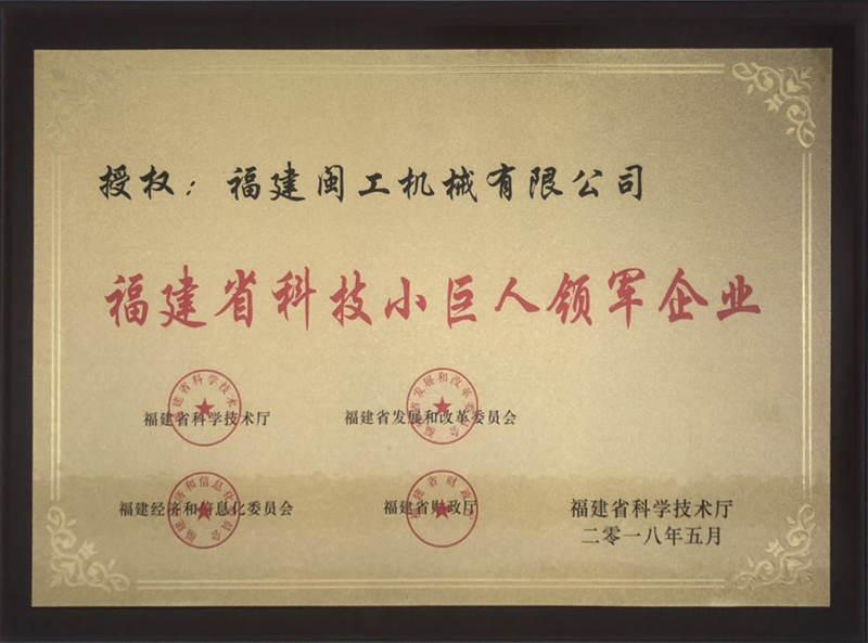 福建省科技小巨人领军企业